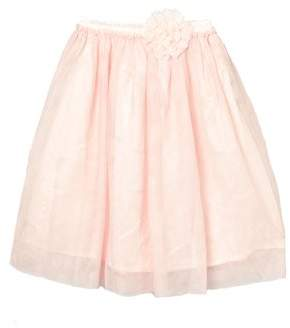 Mi Amore Gigi Girls' Long Skirt With Attached Vintage Lace Flower