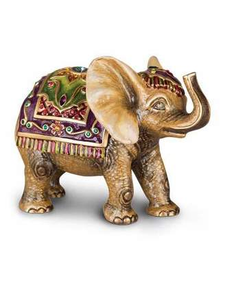 Jay Strongwater Small Tapestry Elephant Figurine