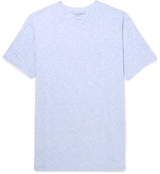 Derek Rose Ethan Melange Stretch-Micro Modal Jersey T-Shirt - Light blue