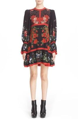 Women's Alexander Mcqueen Floral Print Silk Dress $3,795 thestylecure.com