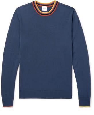 Paul Smith Stripe-Trimmed Wool Sweater