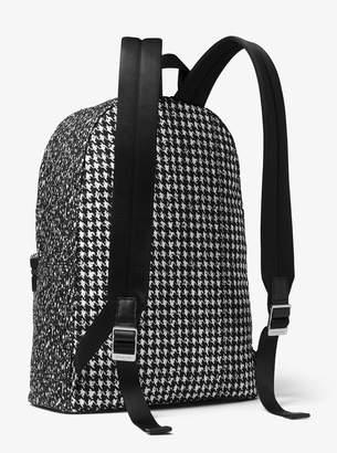 8051fe631ad8 Michael Kors Kent Houndstooth Nylon Backpack