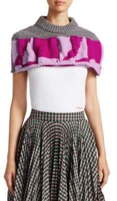 Calvin Klein Quilted Graphic Macro Crop Poncho