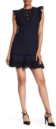 Rebecca Taylor Sleeveless Lace A-Line Mini Dress