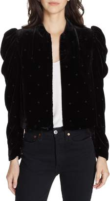 Ulla Johnson Orli Dot Velvet Blazer