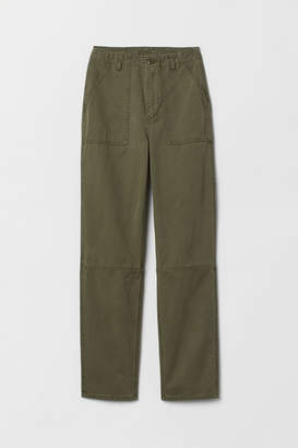 H&M Twill cargo trousers - Green