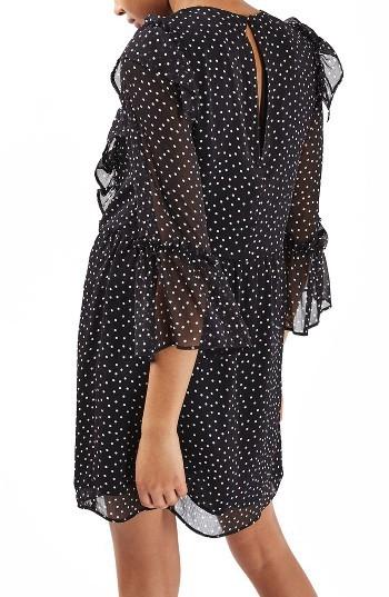 Women's Topshop Spot Ruffle Flute Dress 2