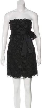 Marc Jacobs Embroidered Strapless Dress
