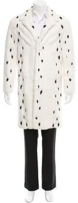 Saint Laurent 2013 Dalmatian Print Fur Coat