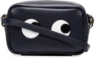 Anya Hindmarch black and white mini eyes leather crossbody bag