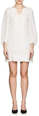 Derek Lam WOMEN'S SILK CREPE LACE-UP SHIFT DRESS