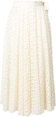 Jil Sander embroidered midi skirt