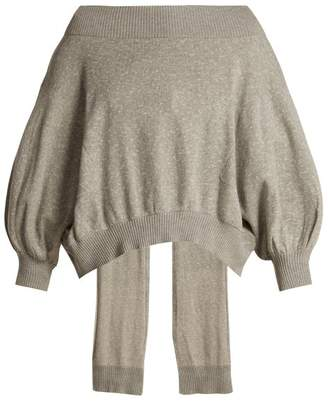 Palmer Harding Palmer//Harding Palmer//harding - Open Back Cotton Sweater - Womens - Grey