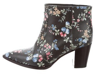 Laurence Dacade Leather Floral Ankle Boots $225 thestylecure.com