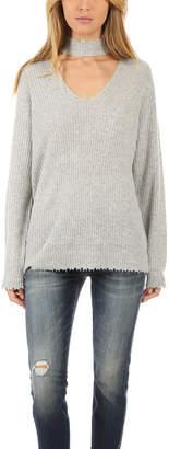 R 13 Choker V Neck Sweater