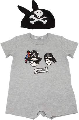 Dolce & Gabbana Pirates Family Jersey Romper & Hat