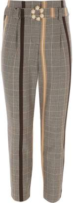 River Island Girls yellow check trousers