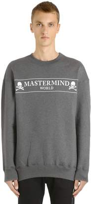 Oversized Skull Box Printed Sweatshirt