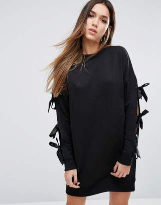 Missguided Bow Sleeve Sweat Dress $43 thestylecure.com