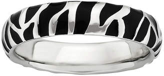 JCPenney FINE JEWELRY Personally Stackable Sterling Silver Animal Print Enamel Stackable Ring