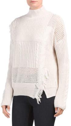Chunky Oversized Fringed Sweater