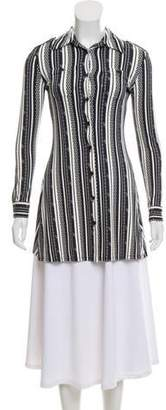 Versus Abstract Print Button-Up Tunic
