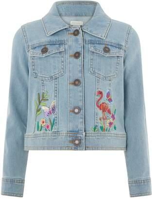 Monsoon Leila Flamingo Denim Jacket