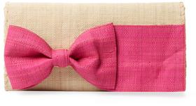 Eloise Woven Bow Clutch $115 thestylecure.com