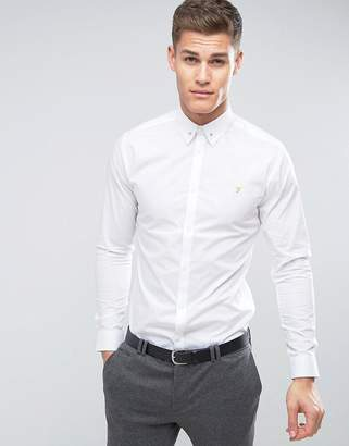 Farah Slim Smart Shirt With Collar Bar