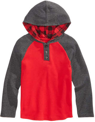 Epic Threads Toddler Boys Grand Colorblocked Thermal-Knit Hooded Henley