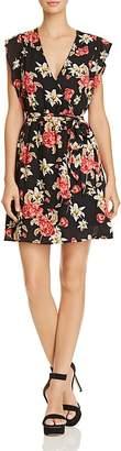 BB Dakota Shakira Floral Print Faux-Wrap Dress