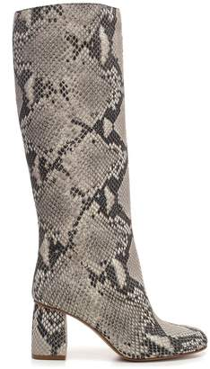 RED Valentino Snake Skin Effect High Boots