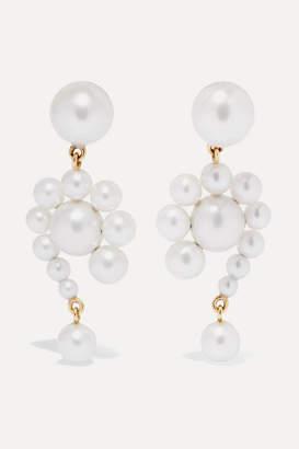 Sophie Bille Brahe Escargot 14-karat Gold Pearl Earrings