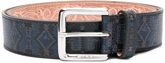 Etro geometric patterned belt