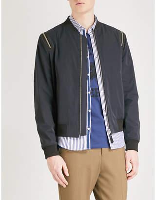 The Kooples Zip-detail shell bomber jacket