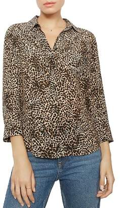 Anine Bing Billie Leopard Silk Shirt
