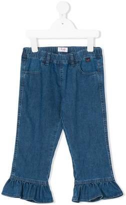 Il Gufo straight ruffled jeans