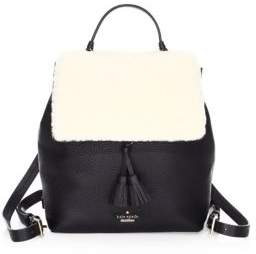 Kate Spade Women's Hayes Street Shearling Backpack - Cement