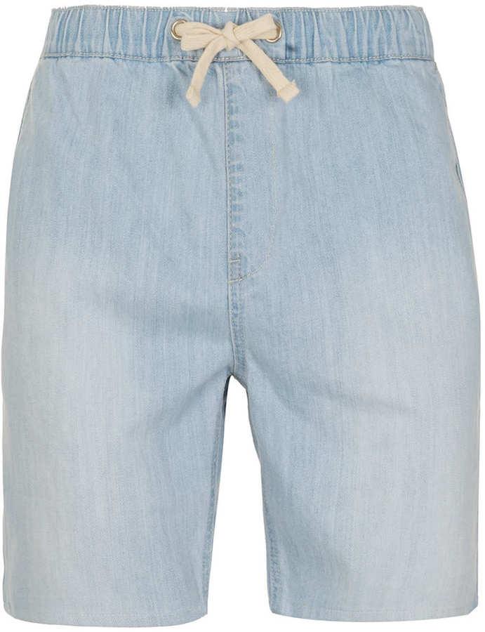 Topman Light Blue Wash Denim Shorts
