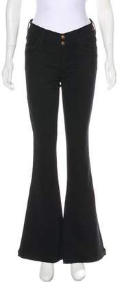 Gold Sign Mid-Rise Wide-Leg Jeans