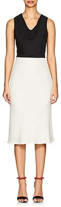 Narciso Rodriguez Women's Colorblocked Silk & Wool Midi-Dress