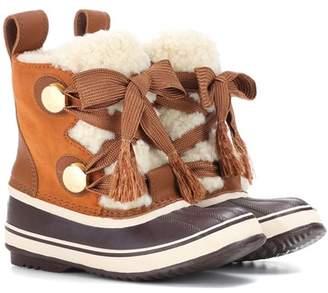 Chloé X Sorel Joan of Arctic suede boots