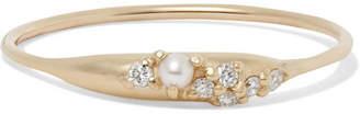 Sebastian Sarah & SARAH & Coral Relic Gold, Diamond And Pearl Ring - medium