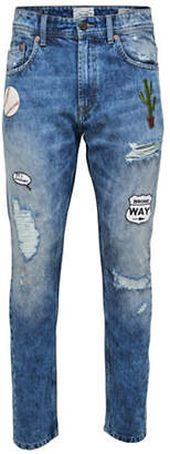 ONLY & SONS onsCARROT Patch Distressed Jeans