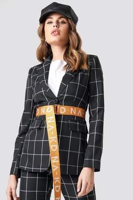 Na Kd Trend Plaid Blazer Black