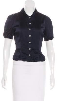 Louis Vuitton Short Sleeve Crop Top