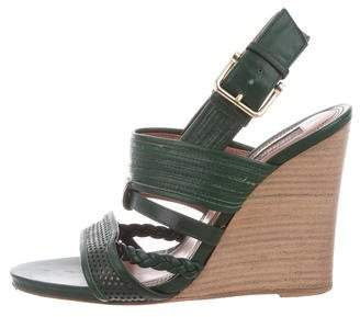 Derek Lam Leather Wedge Sandals