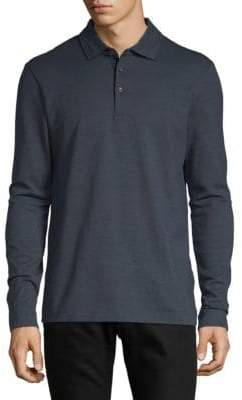 HUGO BOSS Paver Long-Sleeve Cotton Polo