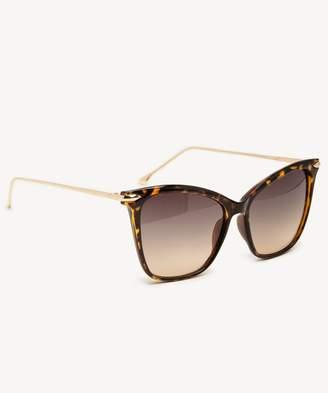 Sole Society Dawn Cat Eye Sunglasses w/ Metal Detail