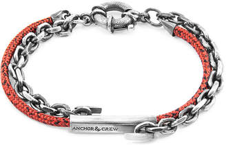 Anchor And Crew Belfast Silver & Rope Bracelet